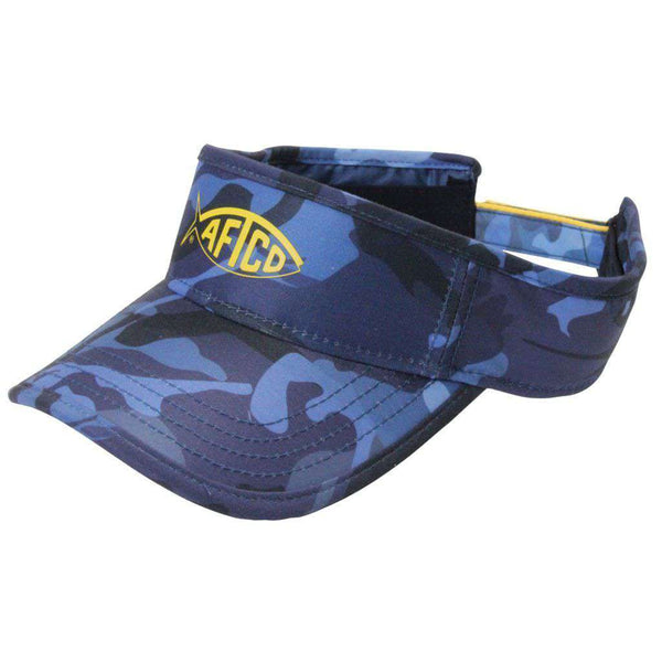 Hats/Visors - Blue Camo Visor By AFTCO