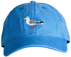Hats/Visors - Blue Hat With Needlepoint Seagull By Harding-Lane