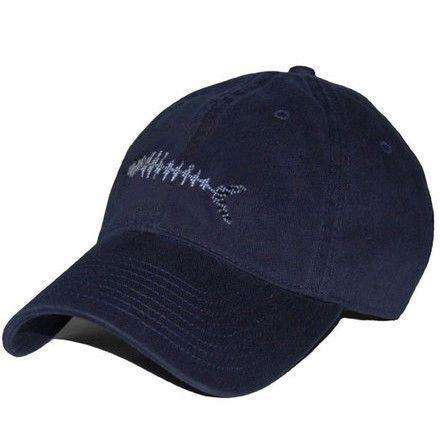 Hats/Visors - Bonefish Needlepoint Hat In Navy By Smathers & Branson