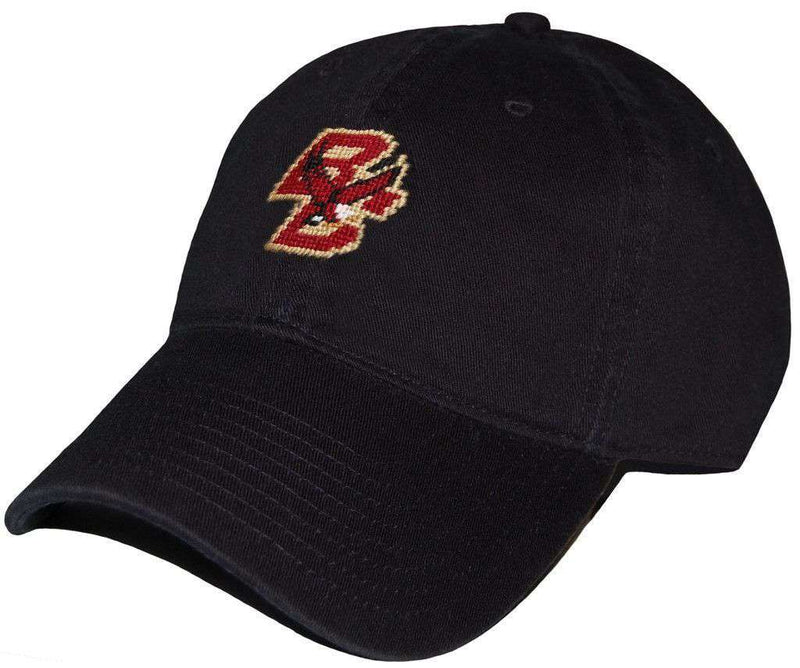 Hats/Visors - Boston College Needlepoint Hat In Black By Smathers & Branson