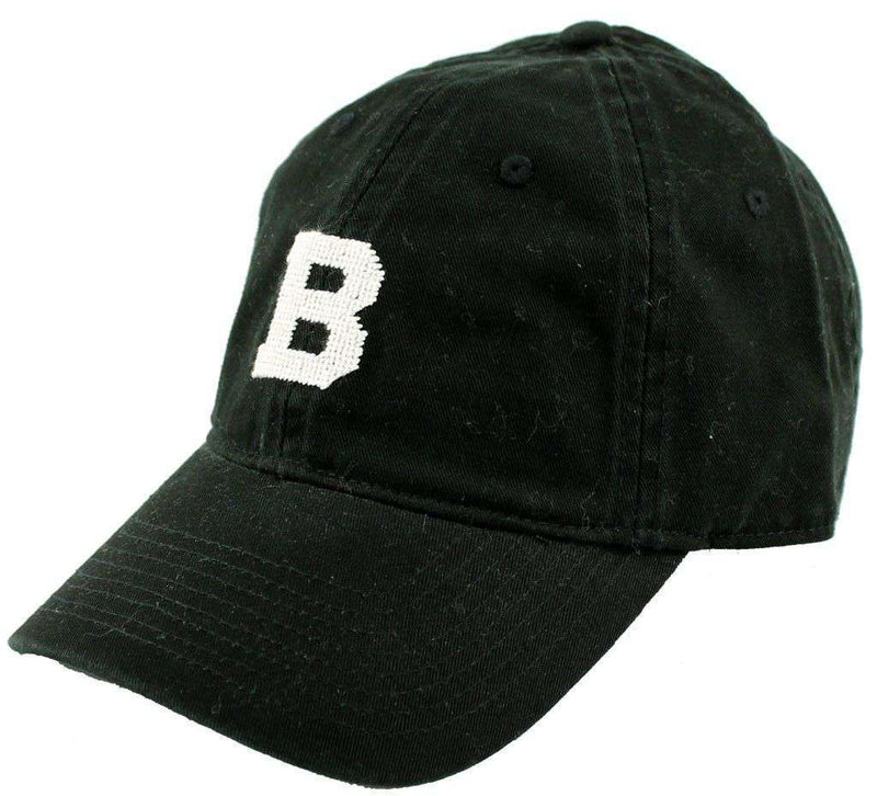 Bowdoin University Needlepoint Hat in Black by Smathers & Branson