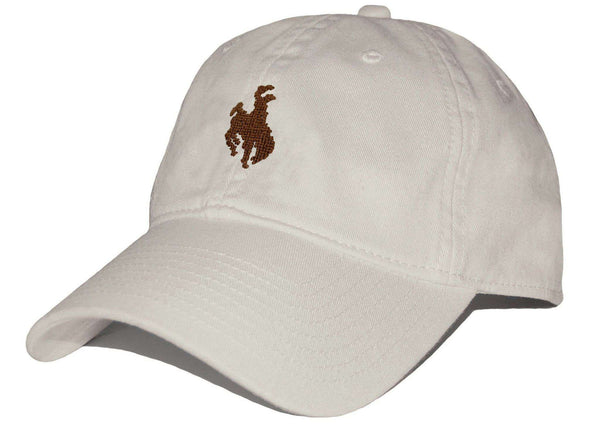 Bucking Bronco Needlepoint Hat in Stone by Smathers & Branson