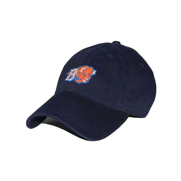 Hats/Visors - Bucknell University Needlepoint Hat In Navy By Smathers & Branson