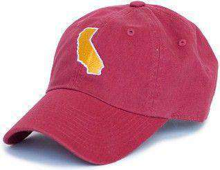 Hats/Visors - California Los Angeles Gameday Hat In Cardinal Red By State Traditions
