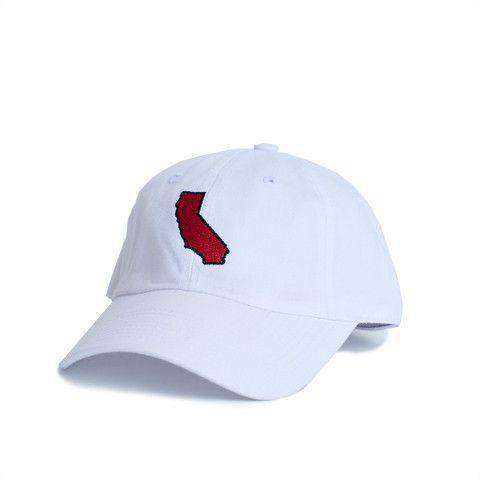 Hats/Visors - California Palo Alto Gameday Hat In White By State Traditions