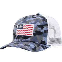 Canton Trucker Hat in Blue Camo by AFTCO