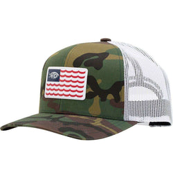 Canton Trucker Hat in Green Camo by AFTCO