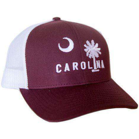 Carolina Mesh Back Hat in Gameday Garnet w/ White by Classic Carolinas