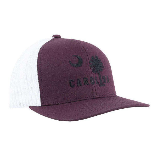 Carolina Mesh Back Hat in Garnet with Black by Classic Carolinas