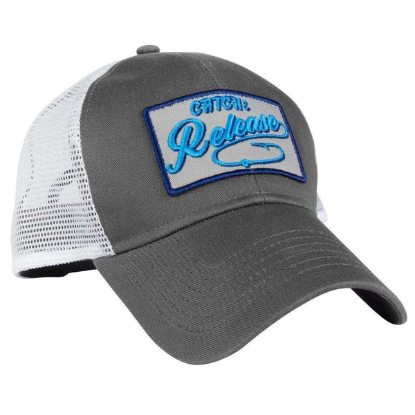 13a6dbb651f ... Hats Visors - Catch   Release Meshback Hat In Grey By Rowdy Gentleman