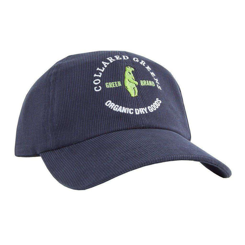 Hats/Visors - Circle Logo Corduroy Hat In Navy By Collared Greens
