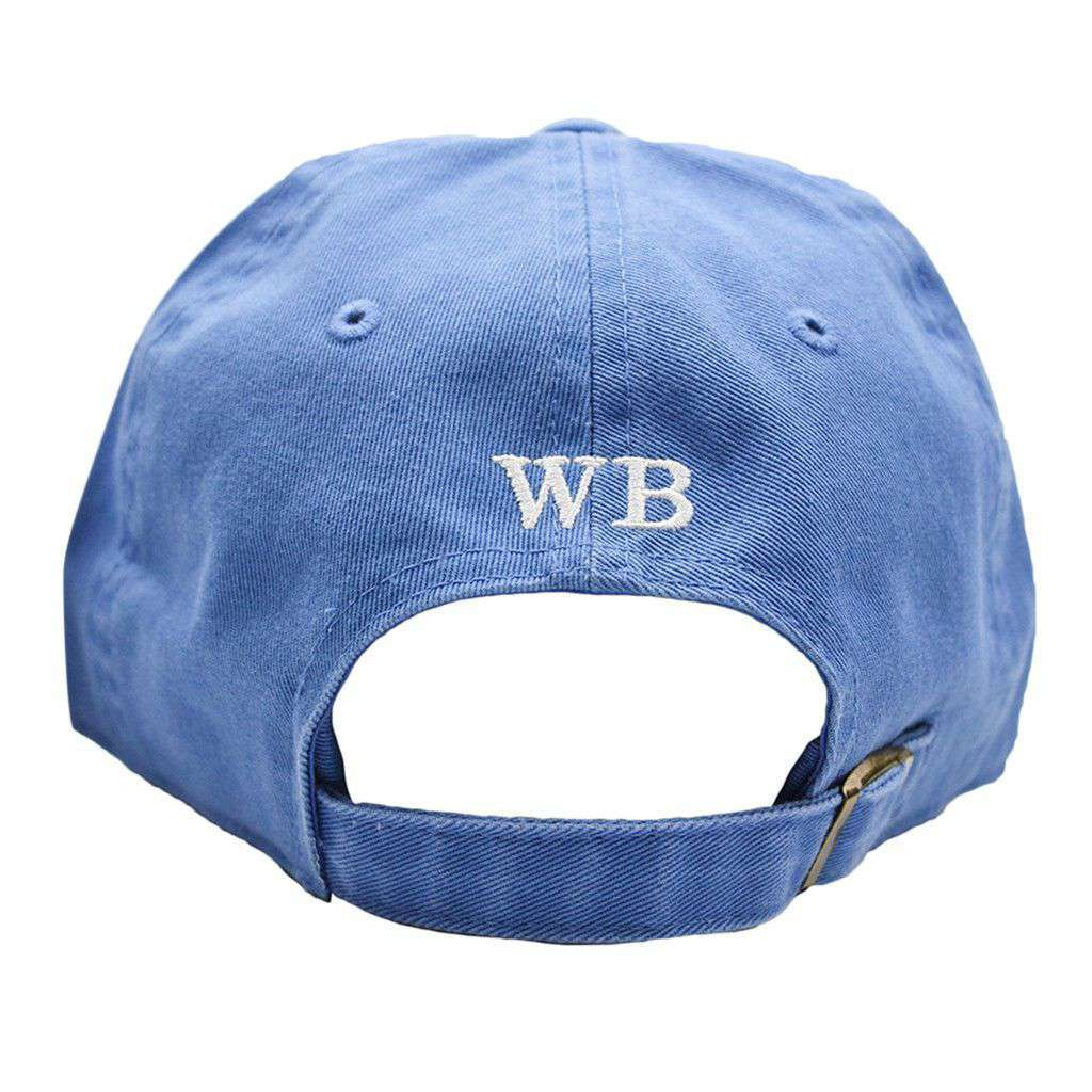 Hats/Visors - Classic Heron Twill Hat In Light Blue By Waters Bluff