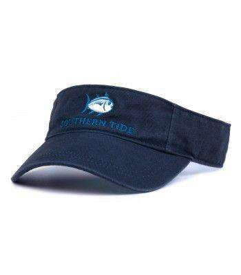 Hats/Visors - Classic Skipjack Visor In Navy By Southern Tide