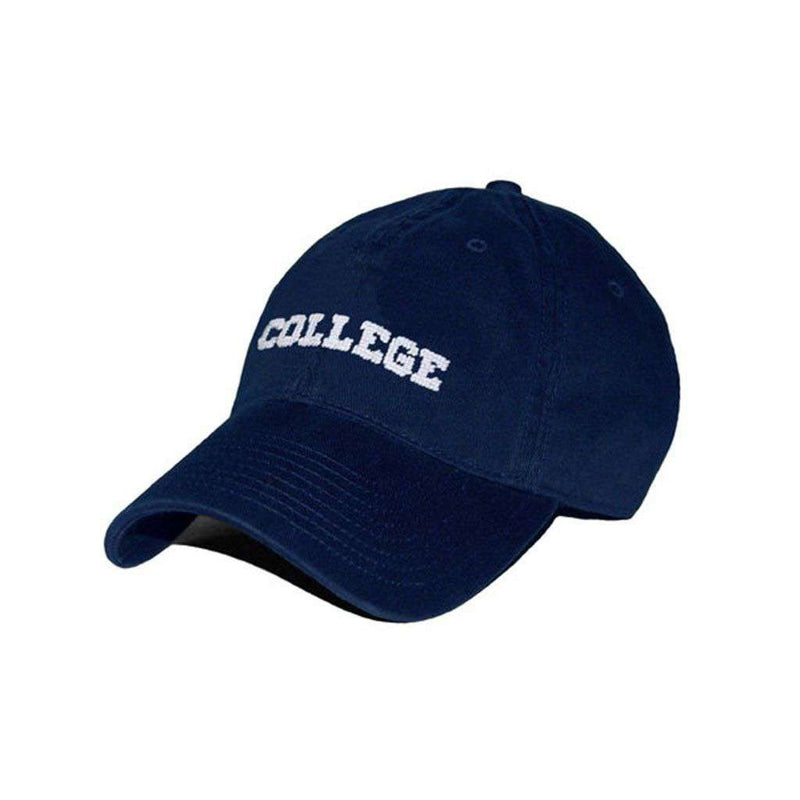 Hats/Visors - College Needlepoint Hat In Navy By Smathers & Branson