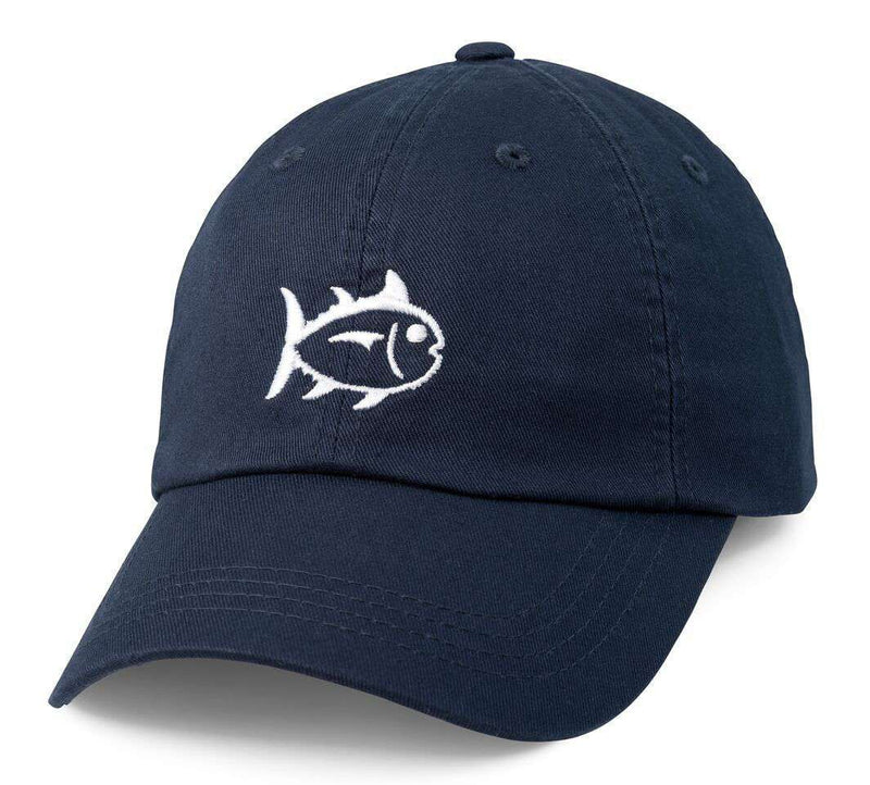 Hats/Visors - Collegiate Skipjack Hat In Dark & Stormy By Southern Tide