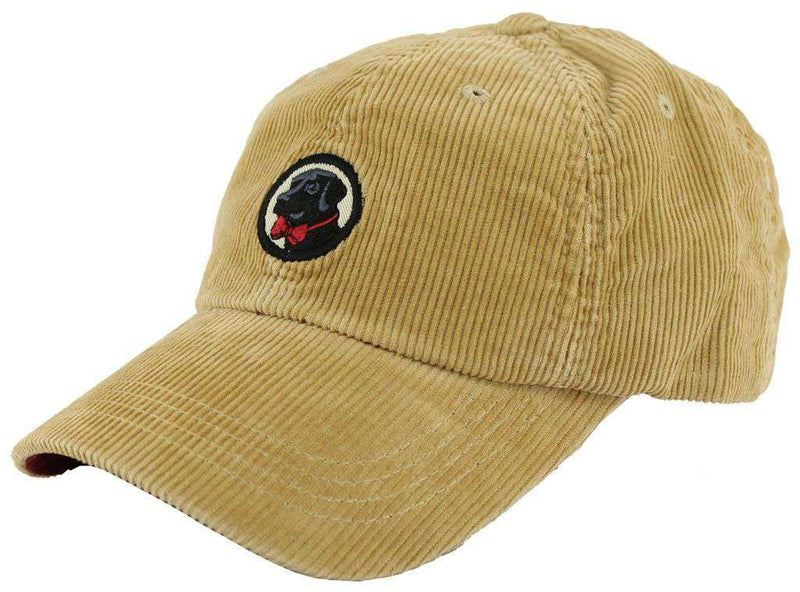Hats Visors - Corduroy Frat Hat In Khaki With Black Lab By Southern Proper 6a63abf0bec