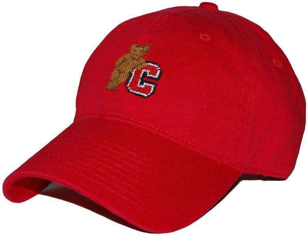 Hats/Visors - Cornell Unversity Needlepoint Hat In Red By Smathers & Branson