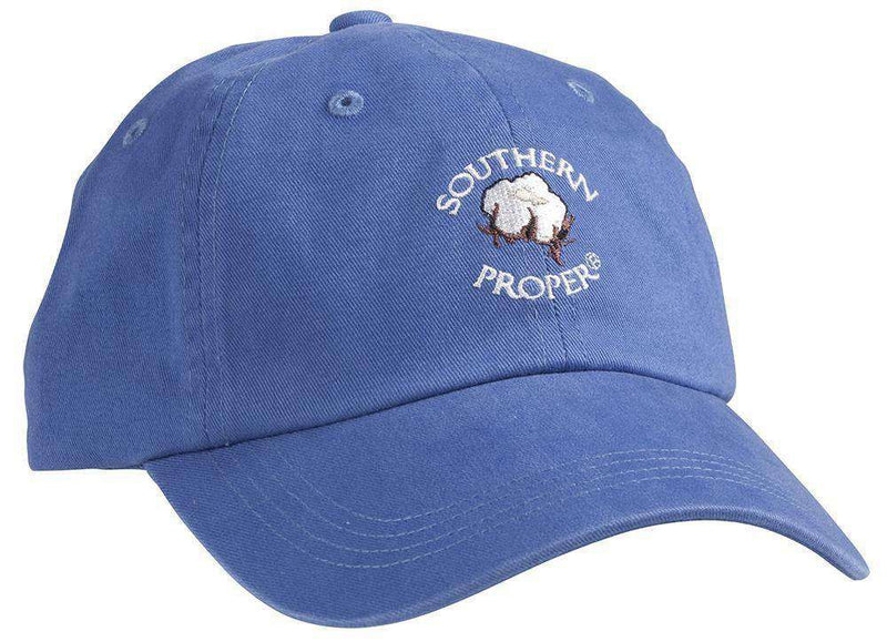 Hats/Visors - Cotton Boll Hat In Blue By Southern Proper