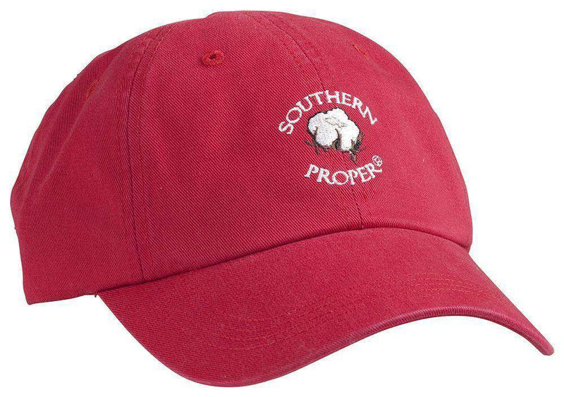 Hats/Visors - Cotton Boll Hat In Red By Southern Proper