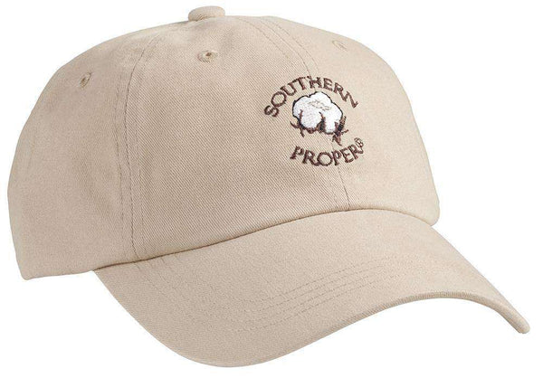 Cotton Boll Hat in Tan by Southern Proper