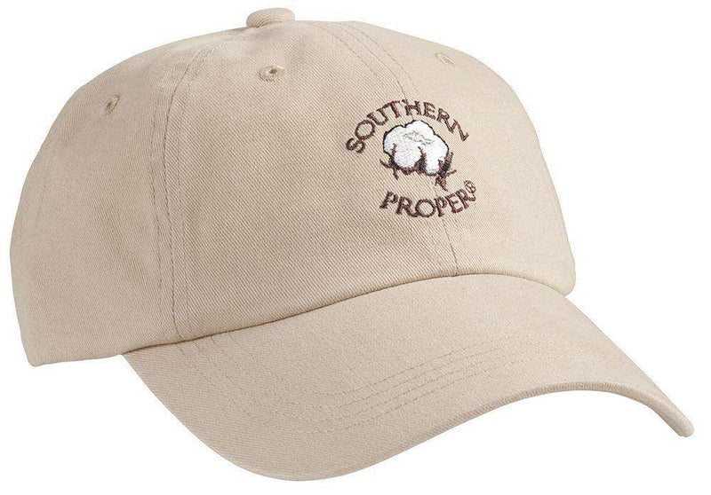 Hats/Visors - Cotton Boll Hat In Tan By Southern Proper