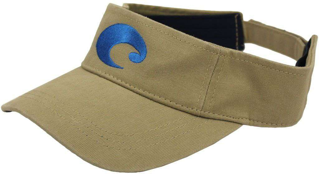 Hats/Visors - Cotton Visor In Khaki By Costa Del Mar