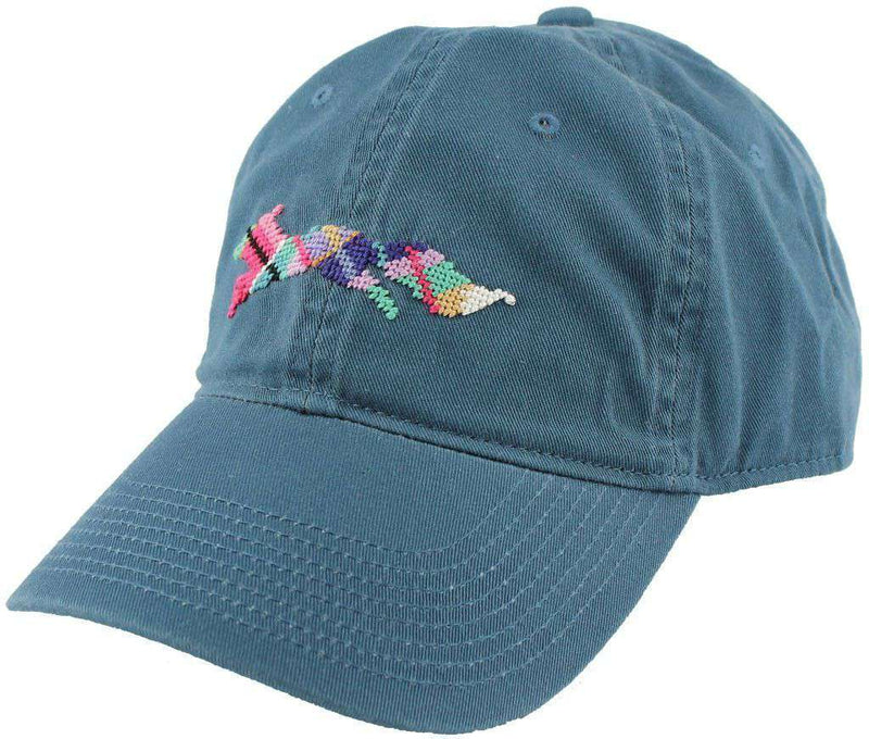 "Hats/Visors - Country Club Prep ""Longshanks"" Needlepoint Hat In Breaker Blue By Smathers & Branson"