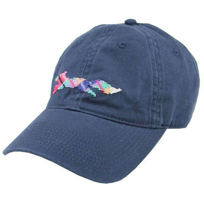 "Hats/Visors - Country Club Prep ""Longshanks"" Needlepoint Hat In Navy By Smathers & Branson"