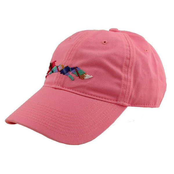 "Hats/Visors - Country Club Prep ""Longshanks"" Needlepoint Hat In Pink By Smathers & Branson"