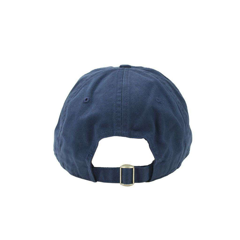 Custom Madras Golf Cart Needlepoint Hat in Navy by Smathers & Branson