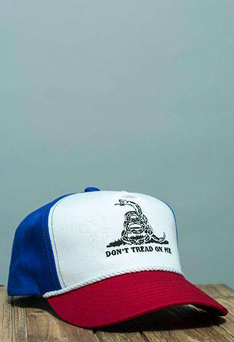 Hats/Visors - Don't Tread On Me Battle Flag Rope Hat In Red, White And Blue By Rowdy Gentleman