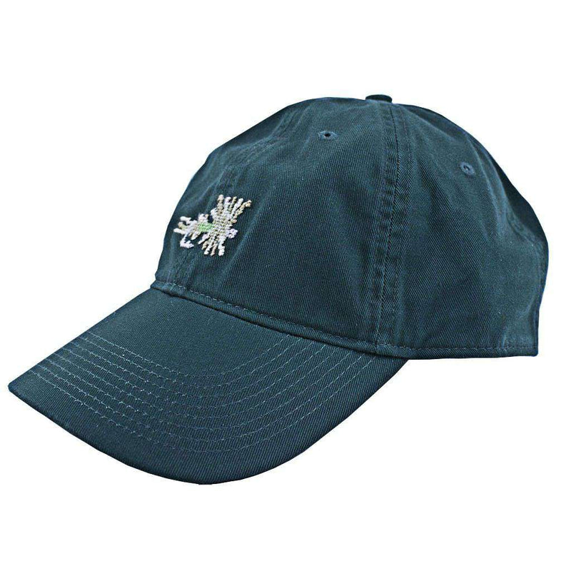Hats/Visors - Dry Fly Needlepoint Hat In Hunter Green By Smathers & Branson