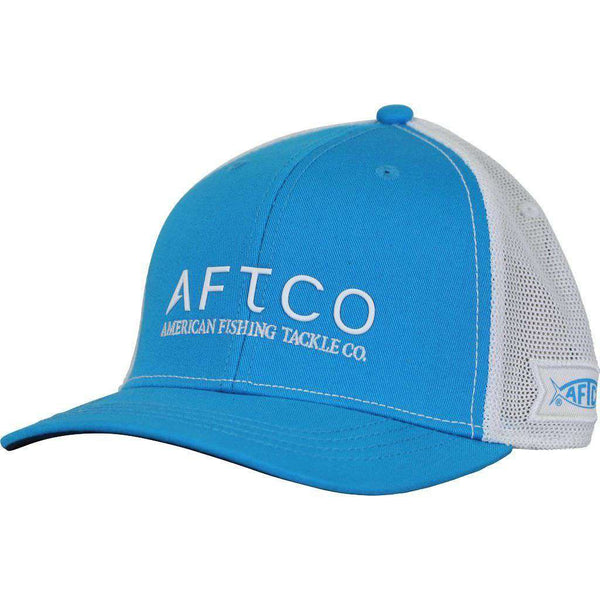 Hats/Visors - Echo Trucker Hat In Vivid Blue By AFTCO - FINAL SALE