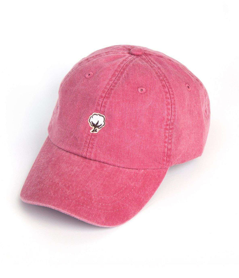 Hats/Visors - Embroidered Cotton Logo Hat In Nautical Red By The Southern Shirt Co.