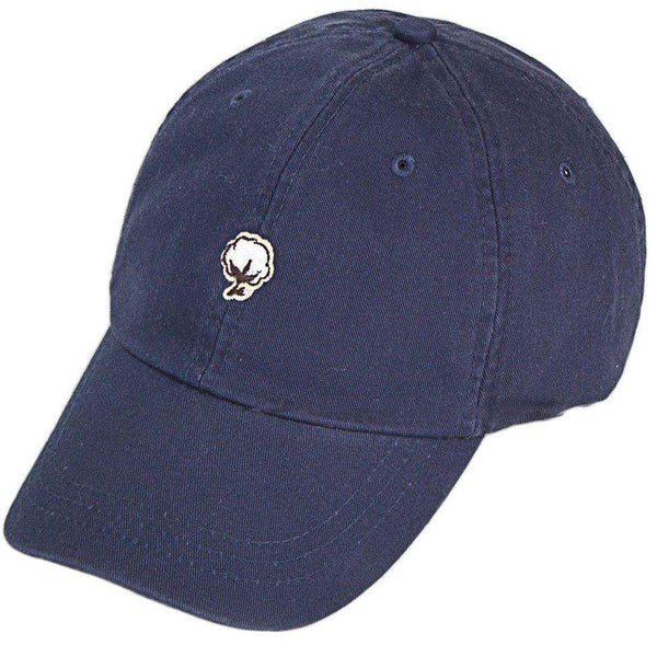 Embroidered Cotton Logo Hat in Navy by The Southern Shirt Co. - Country Club Prep