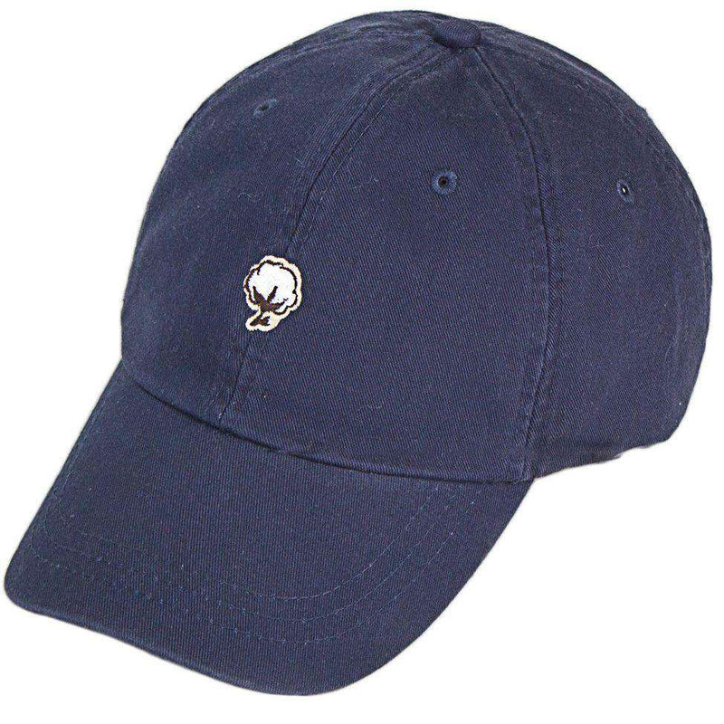 Embroidered Cotton Logo Hat in Navy by The Southern Shirt Co.