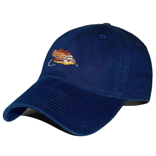 Hats/Visors - Fishing Fly Needlepoint Hat In Navy By Smathers & Branson