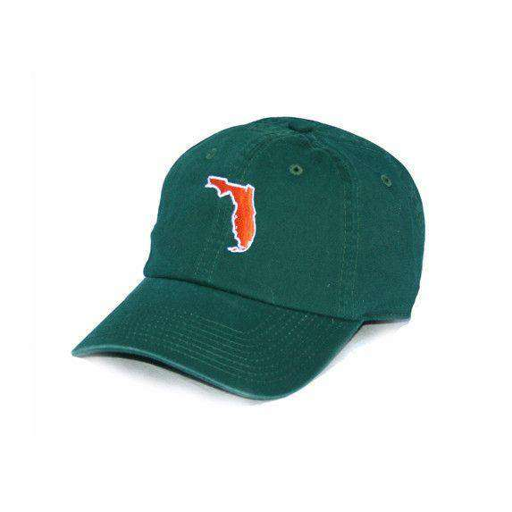 Hats/Visors - Florida Miami Gameday Hat In Green By State Traditions