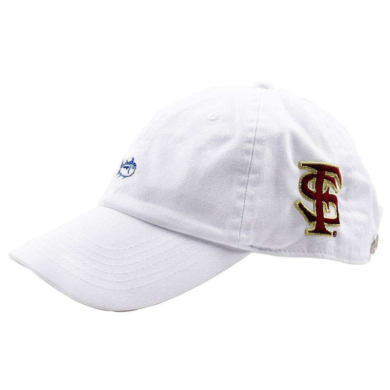 Hats/Visors - Florida State University Mini Skipjack Hat In White By Southern Tide