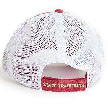 Florida Tallahassee Gameday Trucker Hat in Garnet by State Traditions