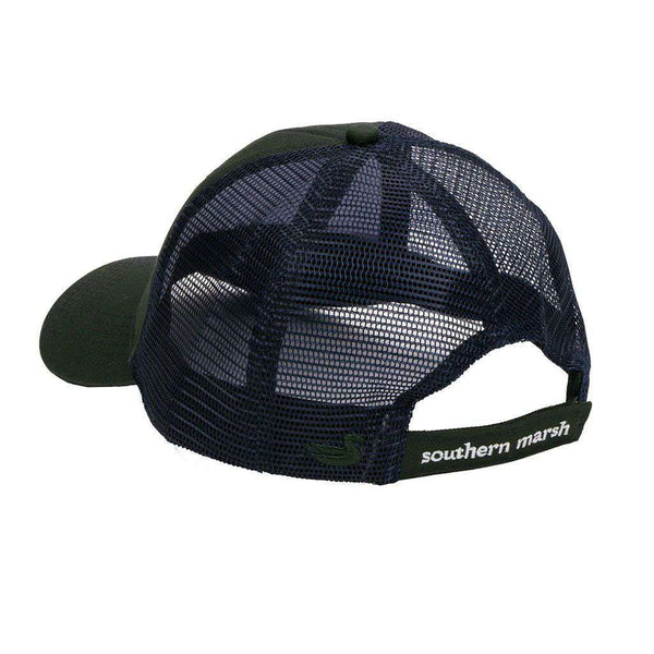 Flying Duck Trucker Hat in Dark Green by Southern Marsh