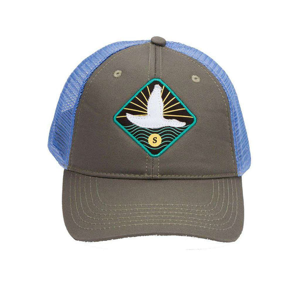 Flying Duck Trucker Hat in Midnight Grey by Southern Marsh