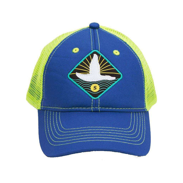 Flying Duck Trucker Hat in Royal Blue by Southern Marsh