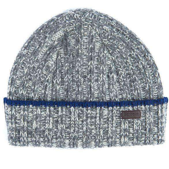 Franklin Beanie in Grey/Pearl by Barbour
