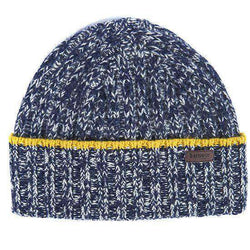 Franklin Beanie in Navy/Pearl by Barbour