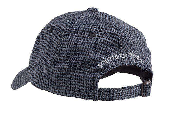 Hats/Visors - Frat Hat In Black/Grey Houndstooth By Southern Proper