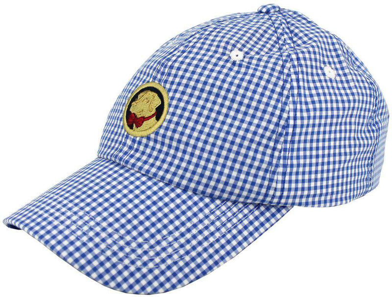 Hats/Visors - Frat Hat In Blue Gingham By Southern Proper