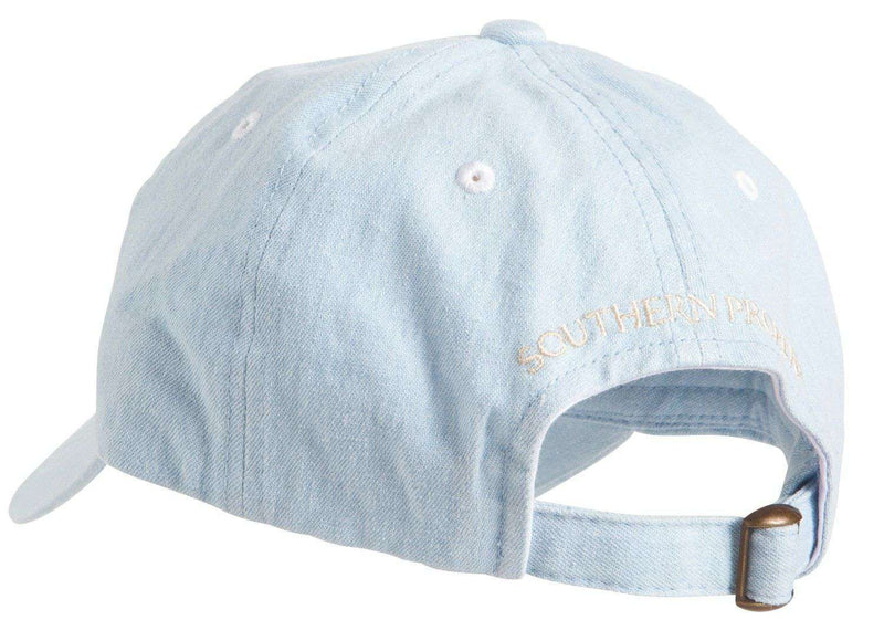 Hats/Visors - Frat Hat In Chambray Blue By Southern Proper