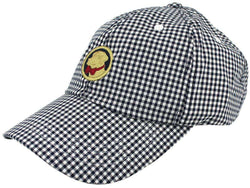 Hats/Visors - Frat Hat In Navy Gingham By Southern Proper