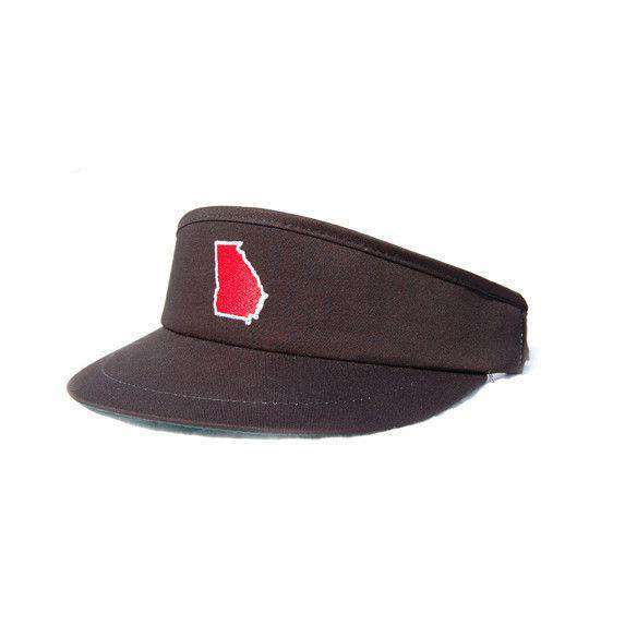 Hats/Visors - GA Athens Gameday Golf Visor In Black By State Traditions